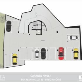 Planta - Garagem - Nível 01