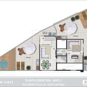Planta - Cobertura - 2º Nível