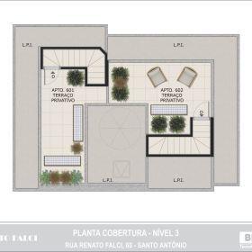 Planta - Cobertura - 3º Nível