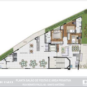 Planta Salão Festas e Área Privativa